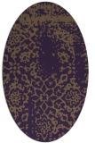 rug #1089062 | oval mid-brown rug