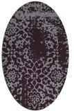 rug #1089066 | oval purple faded rug