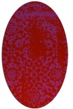 rug #1089082 | oval red damask rug