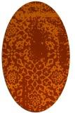 rug #1089086 | oval red-orange natural rug