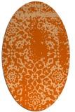 rug #1089090 | oval red-orange traditional rug