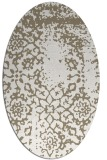 rug #1089130 | oval white faded rug