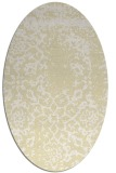 rug #1089138 | oval white faded rug