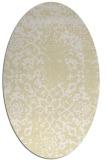 rug #1089138 | oval yellow damask rug