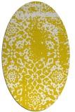 rug #1089142 | oval yellow faded rug