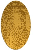 rug #1089146 | oval light-orange damask rug