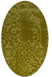 rug #1089154 | oval light-green faded rug