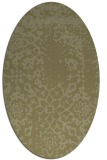 rug #1089158 | oval light-green faded rug