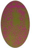 rug #1089162 | oval light-green faded rug
