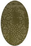 rug #1089166 | oval light-green faded rug