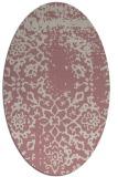 rug #1089174   oval pink damask rug