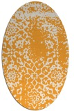 rug #1089182 | oval light-orange damask rug