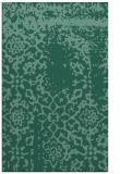 rug #1089242    blue-green damask rug