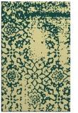 rug #1089518 |  blue-green damask rug