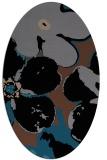 rug #108953 | oval black natural rug