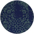 rug #1089594 | round blue faded rug
