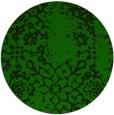rug #1089614 | round green damask rug