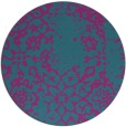 rug #1089638 | round blue-green traditional rug