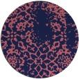 rug #1089650 | round pink damask rug