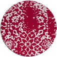 rug #1089674   round red damask rug