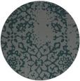 rug #1089686 | round green damask rug