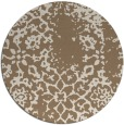 rug #1089710 | round beige damask rug