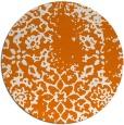 rug #1089762 | round orange natural rug