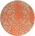 rug #1089766 | round orange damask rug
