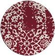 rug #1089778 | round pink damask rug