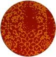 rug #1089810 | round red traditional rug