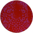 rug #1089818 | round red traditional rug