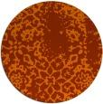 rug #1089822 | round red-orange natural rug