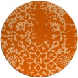 rug #1089826 | round red-orange damask rug