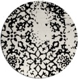rug #1089842 | round white faded rug