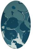 rug #108985   oval blue-green natural rug