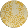 rug #1089870 | round yellow popular rug