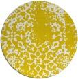 rug #1089878 | round yellow damask rug