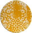 rug #1089906 | round light-orange faded rug