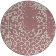rug #1089910 | round pink damask rug