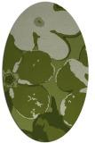 rug #109061   oval green rug