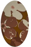 rug #109081 | oval mid-brown natural rug