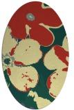 rug #109141 | oval blue-green natural rug