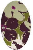 rug #109165 | oval purple rug