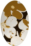 rug #109233 | oval brown rug