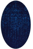 rug #1092530 | oval blue graphic rug