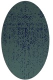 rug #1092538 | oval blue-green abstract rug