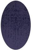 rug #1092586   oval blue-violet faded rug