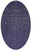 rug #1092590   oval blue-violet faded rug