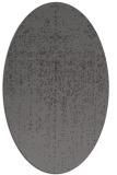 rug #1092650 | oval mid-brown faded rug