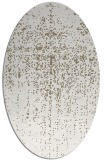 rug #1092658 | oval white faded rug